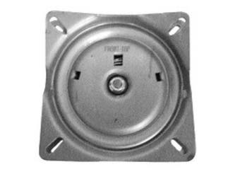 Chair Swivel Plate 7 inch - 3 degree pitch with return spring for dining chairs, office chairs, bar stools