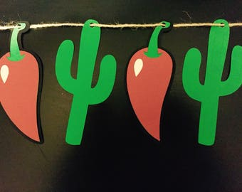 Cactus and Chili Pepper Banner