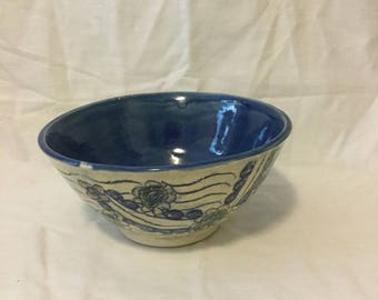 Hand thrown ceramic bowl