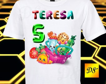 Shopkins Iron On Transfer, Shopkins Birthday Shirt Iron On Transfer, Shopkins Personalize Iron On, Digital File Only