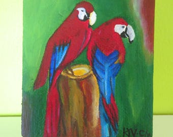 In Love Red Macaws