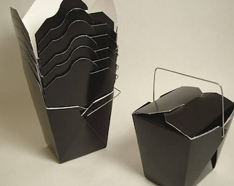 100 Black Favor Boxes Chinese Take Out Boxes Gift Favors Birthday Anniversary Bridal Wedding Favors Shower Superhero Boy Wholesale Boxes