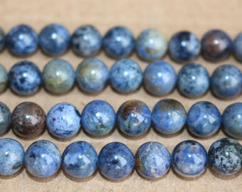 15 inches Full strand,Natural Sunset Dumortierite smooth round beads 6mm 8mm 10mm ,loose beads,semi-precious stone