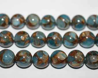 15 Inches Full strand,Mosaic Stone Smooth round beads 6mm 8mm 10mm 12mm ,loose beads,semi-precious stone