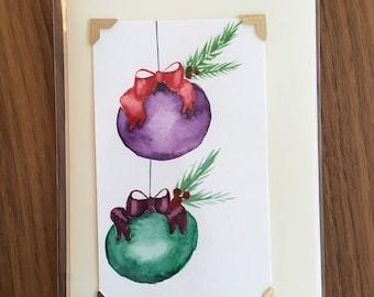 watercolor holiday card (5x7)
