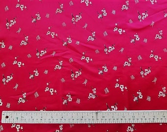 Silk Chinese Brocade - Red and Gold