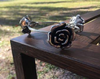 Handmade rose bangle