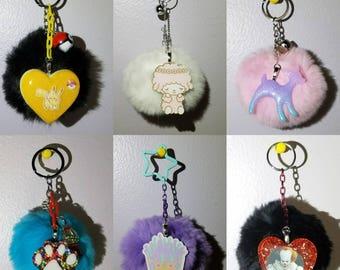 Pom Pom Keychains