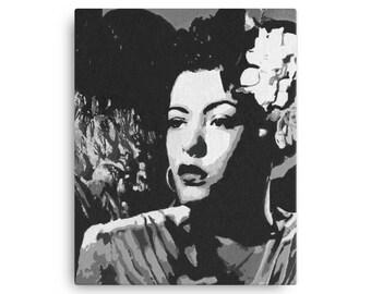 Billie Holiday Portrait Canvas
