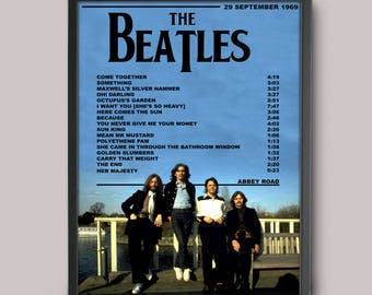 The Beatles Abbey Road Custom Poster // High Quality A3 Album Art