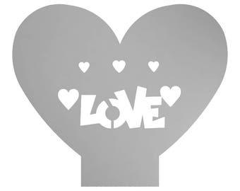Metal, Art, Home Decor, Love, Heart