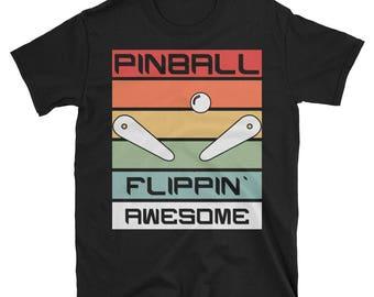 Retro Classic Pinball Flippin Awesome T-Shirt Gift Tee
