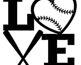 Softball love decal