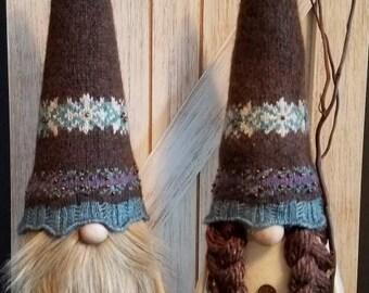 Scandinavian Nordic Gnome  Couple Love Nisse Tomte