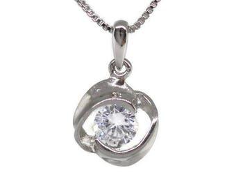 Silver Pendant 925 zirconium