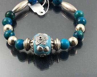 Wellness Gemstone Bracelet, Healing Bracelet, Energy Bracelet, Elastic Bracelet,