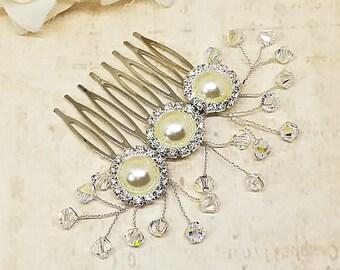 Swarovski Hair Comb, Crystal Hair Comb, Bridal Hair Comb, Wedding Hair Accessories, Wedding Hair Comb, Swarovski Crystal Bridal Comb