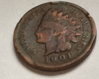 1901 Indian Head Penny / Cent