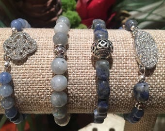 Navy Bohemian Bracelet Set