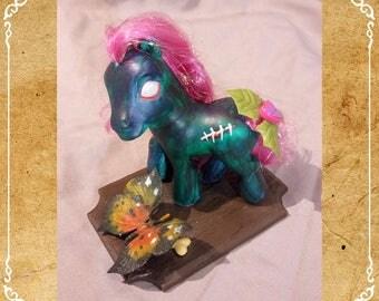 My Little Pony for Zombie, unique custom / / custom My Little Pony MLP handmade OOAK