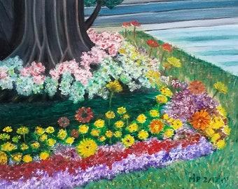 Springtime Painting, Springtime, Oil Painting, Original Artwork, Landscapes, Landscapes in Oil, Flower Painting, Flower Artwork, Floral Art