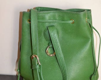 Vintage Lancel green leather bag
