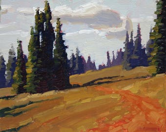 "Quiet Evening 8x10"" Plein Air Oil Painting"