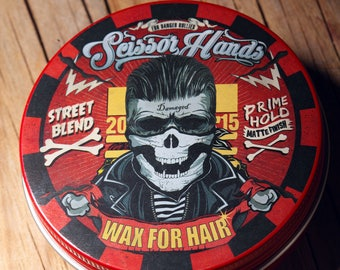 Man hair wax.3.33 OZ. 100ML clay.pomade.Manly hair wax genuine organic materials with satisfying flavor. Pure manly materials made for style