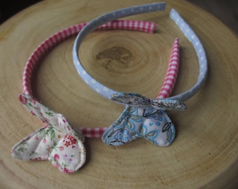 Set of 2 Headbands with butterfly