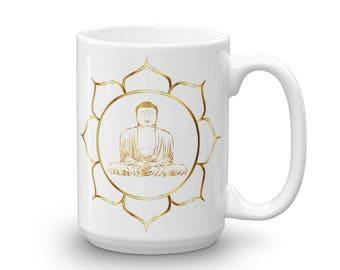Gold Buddha Coffee Mug