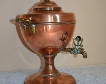 English Victorian Copper Samovar/ Hot water Kettle ca. 1880/ Kupfer Samowar