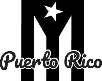 Puerto Rico Flag Decal (Customizable)