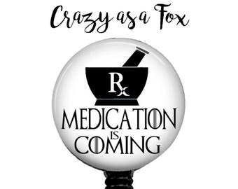 Game of Thrones Medication is Coming Pharmacist Retractable Badge Holder, Badge Reel, Lanyard, Stethoscope ID Tag, Pharmacy, Phasmacist Gift