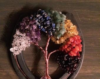 Chakra Tree Of Life on Horseshoe