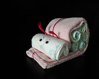 Diaper gift baby//snail//baby//diaper cake//Christening Gift