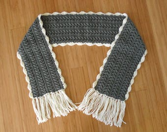 Crochet Wool Cable Scarf