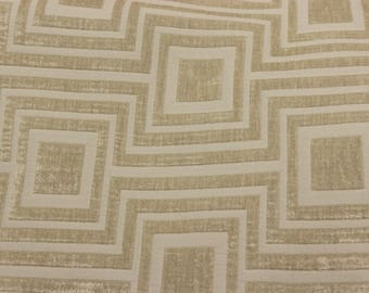 Reversible chenille jacquard Greek-Key fabric by the yard  for Throw Pillows Tablecloth and upholstery