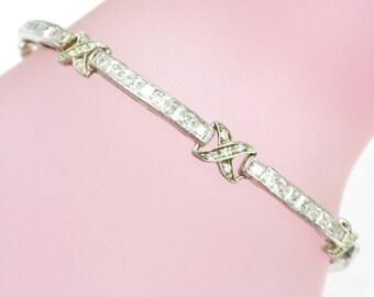 Vintage Sterling Silver 925 Bracelet 10.8 Grams 7.25 inches