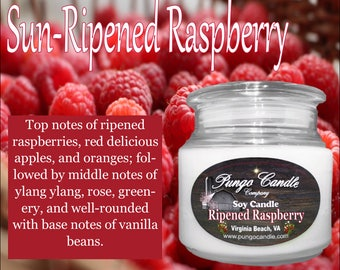 Sun-Ripened Raspberry Scented Soy Jar Candle (16 oz.)