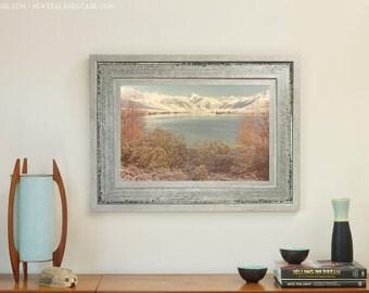 Art Print - New Zealand Lake and Mountains Photo, Wall Decor