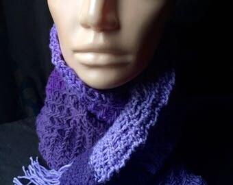 Purple Zig Zag Scarf