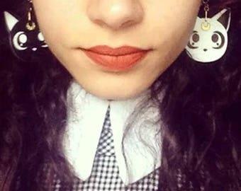 Sailor Moon Luna and Artemis earrings!