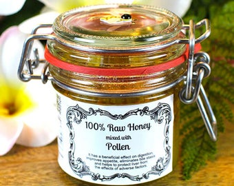 100% Raw Honey mixed with Pollen