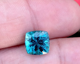 4.75 Carates Very Beautiful Faceted Amazing Paraiba Color Blue Tourmaline with Beautiful Luster From Afghanistan.