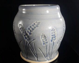 Blue ginger jar kitchen utensil holder