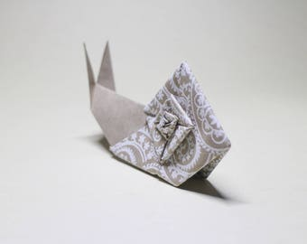 Decorative Origami Snail made from hand stamped Indian paper - Paper snail - Origami - All natural
