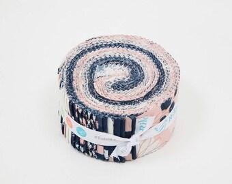 Blush 2.5 Inch Rolie Polie by Jen Allyson of My Mind's Eye for Riley Blake Designs