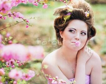 Floral digital backdrop, flowers background, summer background, garden background, spring backdrop, pink flowers, bokeh background, sakura
