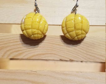 Yellow Concha Earrings