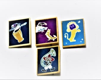 Badges of the USSR Vintage set of Cartoon Characters